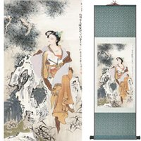 Wholesale silk scrolls for sale - Group buy Traditional Chinese art painting Silk scroll painting Chinese wash wash