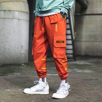 hosen gezeiten großhandel-Tropfenverschiffen Taschen Cargo Pants Männer Farbe Patchwork Lässige Jogger Mode Taktische Hose Flut Harajuku Streetwear