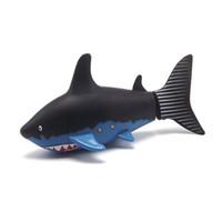 mini submarinos de control remoto al por mayor-Coca-lata Mini control remoto RC Super mini Shark fish Barco Submarino Nadar en agua para niños Regalo