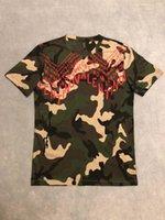 clothing camouflage shirts оптовых-19ss мужские дизайнерские футболки роскошный камуфляж VL Письмо печати мужская одежда перемычка с длинным рукавом рубашки женщин высокое качество тег новый