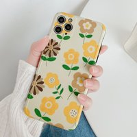Wholesale sunflower phone case for sale – best Cute Sunflower Phone Case For iPhone Pro Max XR XS Max Plus X Camera Protection Soft IMD Back Cover Coque Gifts