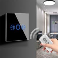 ingrosso interruttore remoto 433mhz-Sensore touch screen LED Interruttore Pannello 220V 433MHz LED Dimmer Impermeabile EU UK Standard Interruttore tattile a parete con telecomando RF