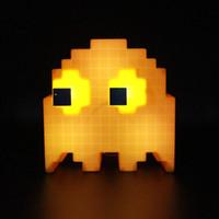 автоматическое освещение призрака оптовых-Внутреннее светодиодное ночное освещение с подсветкой и музыкальным оформлением дома DJ Ghost детская атмосфера, ночная лампа, сенсорный датчик, детские ночники