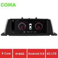 wifi pantalla táctil china al por mayor-COIKA Car DVD Display Stereo Screen Android 9.0 para BMW F07 GT 2011-2017 4 + 64GB RAM 8 Core WIFI 4G DSP SWC BT Google GPS Navi Video 10.25 ''