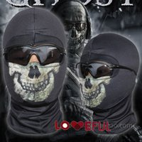 Wholesale cycling mask skulls for sale - Group buy New Black Ghost Skull Balaclava Ski Hood Cycling Skateboard Warmer Full Face Ghost Mask