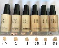 spf 15 venda por atacado-Nova Maquiagem SPF 15 pele FOUNDATION Líquido 30 ml longo desgaste 1 pçs / lote