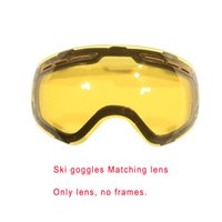 Wholesale use magnets resale online - Yellow glare lenses Ski goggles only can be used in conjunction with magnet snowboarding glasses