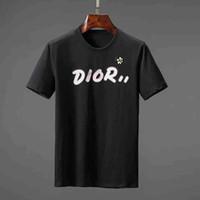 ingrosso maglietta di lusso di mens-2019 Estate Designer T-shirt per uomo Top Luxury Lettera ricamo T Shirt Mens Abbigliamento donna a maniche corte Tshirt uomo Tees