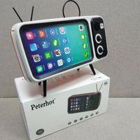 bluetooth hoparlörlü telefon izleme toptan satış-Peterhot PTH800 Oynar Cep Telefonu ve Saatler Bilgisayar Bluetooth Hoparlör Bas TV Hoparlör Cep Telefonu Amplifikatör Açık Küçük Ses