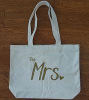 Wholesale canvas prints for sale - Group buy Women Tote bag Mrs Honeymoon Fashion Zipper cotton Canvas Handbag Bag Pocket inside Letters Print with zipper close Custom made