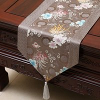 Wholesale beds runner for sale - Group buy Proud Rose Chinese Style Satins Tablecloth Bed Tea Runner Flag Table Decoration Y200421