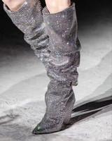 bottes en dentelle d'hiver coréenne achat en gros de-Grandes tailles 35-44 2018 nouvelles bottes L'Europe et les États-Unis ont fait pression avec la perceuse éclair de passerelle sur les bottes au genou
