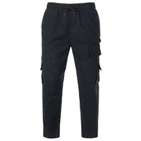 harem sport брюки мужские оптовых-High quality overalls Men Cargo Harem trousers sweatpants multi-pocket loose casual stitching streetwear sports pants plus size