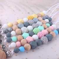 Baby Pacifier Clip Silicone Teether Pacifier Clips Teething Toy Attache Clip Baby Pacifier Holder Infant Feeding Baby Shower Gift LSK651