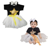 Wholesale reborn dolls clothes for sale - Group buy 22 inch Reborn Doll Baby Girl Clothes Bling Bling Star Printed Rompers Gauzy Skirt Bowknot Headband Accessories