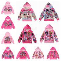Wholesale wool sweatshirt women online – oversize Cartoon Surprise Girls Zipper Coat Spring Autumn Cute Hoodies Jacket Kids Sweatshirts Children Long Sleeve Hooded Top Coats LJJA2925