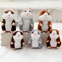 conversa de pelúcia venda por atacado-Promoção 15 cm Lindo Falando Hamster Falar Conversa Registro de Som Repetição Recheado De Pelúcia Animal Kawaii Hamster Brinquedos
