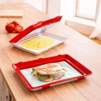 warmhaltefächer großhandel-Clever Food Preservation Tray Frischhalten Einfachheit Tabletts Rot Weiß Farbe Heißer Verkauf Mit Hoher Qualität Tragbare 20jz J1
