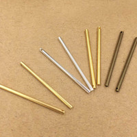 Wholesale diy brass earrings for sale - Group buy 40mm Round Long Bar Charms Pendant amp Earring Supplies Metal Brass DIY Jewelry Findings Components