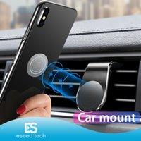iphone типы мобильный samsung оптовых-Магнитный Автомобильный держатель телефона Маунт Стенд для iPhone Samsung Xiaomi Huawei L-Type Car Air Vent Mobile для телефона Универсальный с розничным пакетом