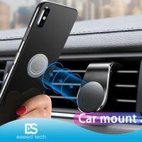tipos de telefones venda por atacado-Magnetic Car Holder Telefone Mount Suporte para iPhone Samsung Xiaomi Huawei L-Type Car Air Vent Mobile para Telefone Universal com Pacote Retail