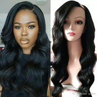 Wholesale upart natural wigs online - U Part Human Hair Wigs For Black Women Preplucked Glueless Peruvian Virgin Unprocessed Hair Body Wave Upart Wig Side Part