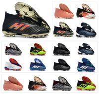 zapatos de paul al por mayor-Hot Predator 18+ Predator 18.1 FG PP Paul Pogba soccer 18 + x tacos Slip-On botas de fútbol para hombre zapatos de fútbol de alta calidad