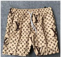 plaj pantolon desen toptan satış-Yeni Kurulu Tasarımcı Şort Erkek Yaz Plaj Şort Pantolon Yüksek Kaliteli Mayo Bermuda Sörf Erkekler Yüzmek Fil Desen Şort