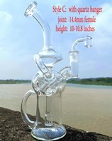 Wholesale titanium pipe bowls resale online - Swshop Glass Bong Recycler Oil Rig Wax Water Pipe Heady Klein Bongs Dab rigs pipes with bowl or quartz banger or titanium nail