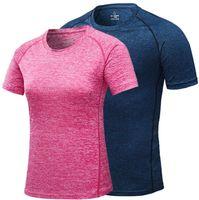 ropa mujer profesional al por mayor-Hombres Mujeres Camiseta Deportes profesionales Secado rápido Fitness T-shirt Ropa deportiva de manga corta Camiseta running