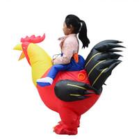 venta de muñecas inflables. al por mayor-niños de Halloween Cosplay gallo ventas directas inflable traje traje de la etapa fabricante de la muñeca inflable