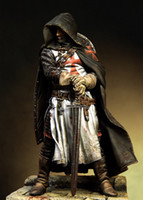 Wholesale unassembled kit for sale - Group buy New Unassembled mm Knights Templars Warrior With Sword mm Resin Kit DIY Toys Unpainted kits