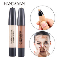 Wholesale dark liquid foundation for sale - Group buy HANDAIYAN SELECT COVER UP Concealer Pen Lasting Foundation Makeup Base Contour Stick Eye Dark Circles Face Corrector Cream DHL