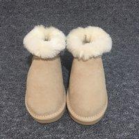 ingrosso scarpe da neve calde invernali donna-Stivali da neve in vera pelle di pecora da donna in Australia Stivali da neve caldi invernali impermeabili impermeabili Marca Ivg Taglia unisex US3-14