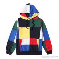 moda callejera coreana para hombres al por mayor-Hip hop Versión coreana de los hombres y mujeres sueltos parejas calle sudaderas con capucha collage suéter con capucha moda skate sudadera con capucha
