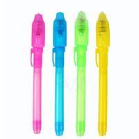 schwarze helle tinte großhandel-Individuelle Blisterkarte für jeden Schwarzlichtstift, UV-Stift mit ultraviolettem Licht / Invisible Ink Pen / Invisible Pen 300pcs