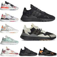 mens schuhe discount großhandel-Discount Nite Jogger 3M Reflektierende Laufschuhe Core Black TRACE PINK Schuhe Weiß ICE MINT Damen Herren Traner Fashion Sport Sneakers