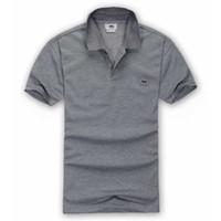 casual clothing al por mayor-Verano de lujo francés camiseta diseñador de la camisa Polo polo alto bordado cocodrilo camisa Polo ropa de marca de ropa para hombres