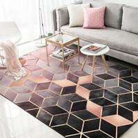 kinderzimmer bodenbelag großhandel-Nordic modernen minimalistischen geometrischen Muster Teppich Wohnzimmer Couchtisch Zimmer Schlafzimmer Boden Teppich Matte Kinderzimmer Krabbeldecke