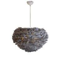 Wholesale feathers 25 inches for sale - Pendant lights chandeliers lamps new modern creative feathers pendant lamp dinning room restaurant hotel art Nordic led pendant lightings
