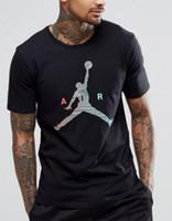yarım kollu gömlek erkek stili toptan satış-Erkek yaz t-shirt erkekler yaz Uçan adam Renkli basketbol Kısa kollu Eğlence Yarım kollu yeni stil