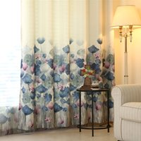 Wholesale red printed curtains for sale - Group buy 2019 New Curtains For Dining Living Bedroom Room European style duplex printing high grade window shading moonlight screens