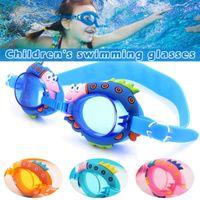 lunettes de natation optiques achat en gros de-Lunettes de natation mignon lumière anti-buée natation Lunettes pour enfants Lunettes de surf de plongée Boy Cute Girl optique Glare Lunettes D40 Réduire