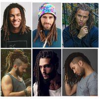 ingrosso 12 pollici estensioni sintetiche dei capelli-Caldo! 12 pollici moda stile hip-hop dreadlocks fatti a mano nero estensioni dei capelli reggae capelli intrecciatura sintetica da cultura Maya per gli uomini