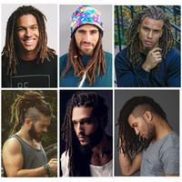 estilos de trança para cabelos negros venda por atacado-Quente! 12 polegada Moda Estilo Hip-Hop Feitas À Mão Dreadlocks Black Reggae Extensões de Cabelo Cabelo Trança Sintética De Cultura Maya Para Homens