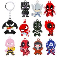 Wholesale animation accessories resale online - New Q version super hero action characters series key ring pendant animation V062