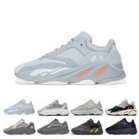 Wholesale best athletic running shoes resale online - Wave Runner V2 Static Inertia OG Solid Grey Mauve Mens Kanye West Running Shoes Best Quality Women Fashion Sports Athletics Sneakers