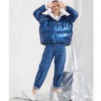 bayanlar kış parkaları satışı toptan satış-Kadın Tasarımcı Aşağı Parkas Moda Lüks Kış Aşağı Ceket Kadın Gevşek Pozitif ve Negatif Giyim Kalın Kısa Coat Marka Parkas Sıcak Satış