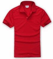 orange polo-stil hemden großhandel-NewS-4XL Brand New Style Herren Poloshirt Top Krokodil Stickerei Männer Kurzarm Baumwolle Hemd Jersey Polos Hemd