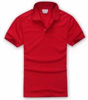 горячие мужчины оптовых-NewS-4XL Brand New style мужская рубашка поло Топ Крокодил Вышивка мужчины с коротким рукавом хлопчатобумажная рубашка трикотажные изделия рубашка поло Горячие Продажи Мужская одежда